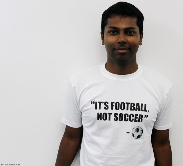 Mithun It's Football Not Soccer t-shirt white