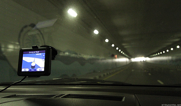 Palm Islands Jumeirah tunnel to Atlantis hotel Dubai GPS
