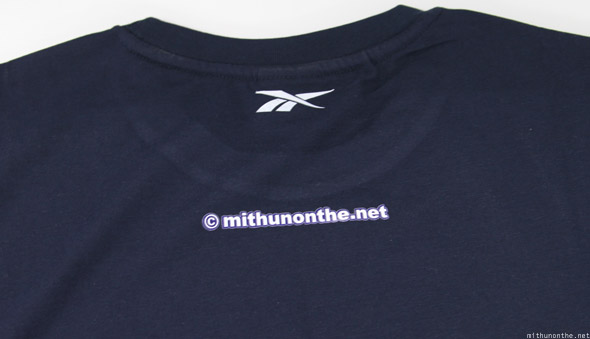 Reebok It's Football, Not Soccer t-shirt navy blue back