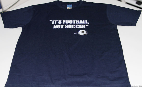 Reebok It's Football, Not Soccer t-shirt navy blue