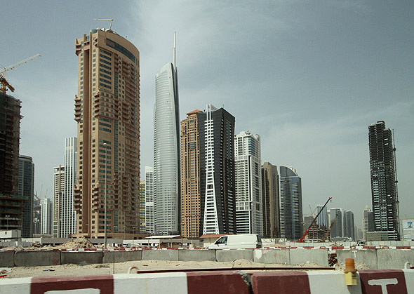 Sheikh Zayed road Dubai Marina construction