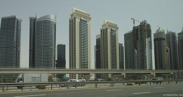 Sheikh Zayed road row of buildings