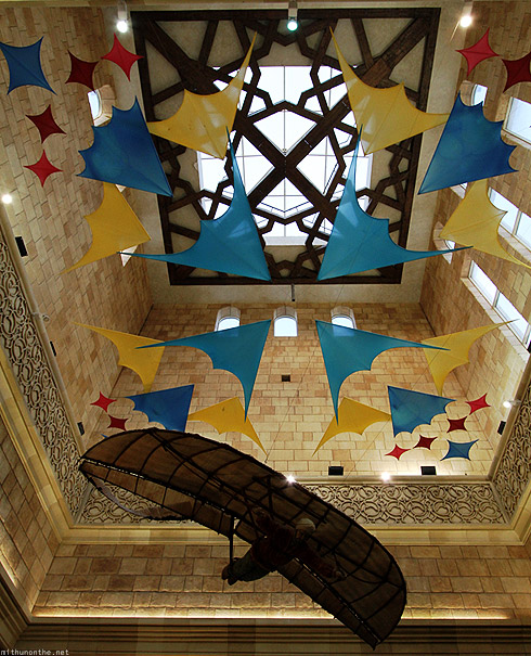 Ibn Battuta mall Andalusia court flight ceiling