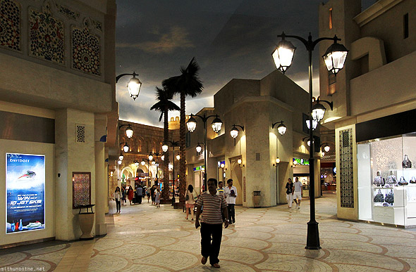 Ibn Battuta Mall Egypt court street lamps