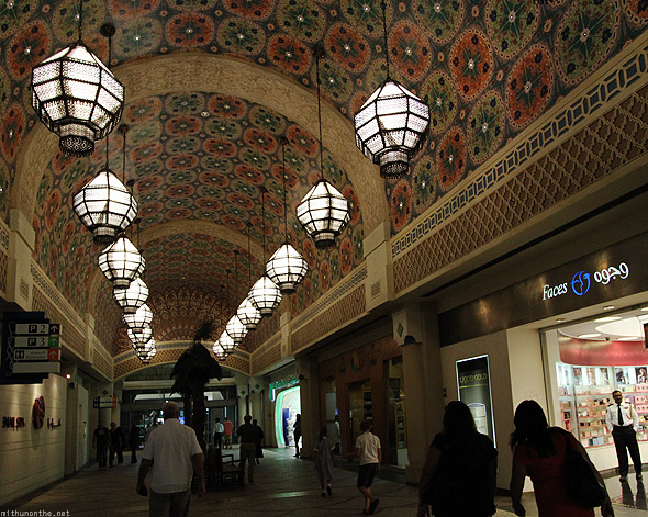 Ibn Battuta Mall Eqypt court lamps