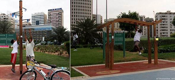 Abu Dhabi corniche excercise fitness