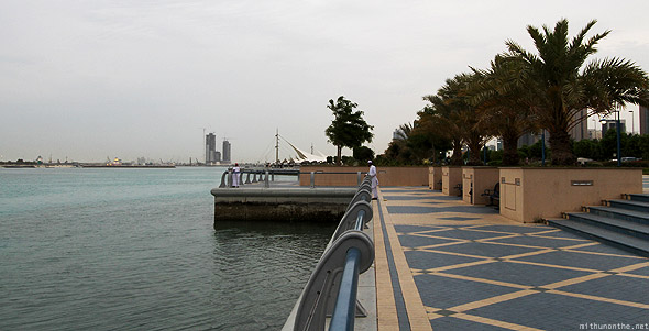 Abu Dhabi corniche waters