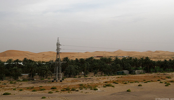 Abu Dhabi desert towards Al Ain oasis