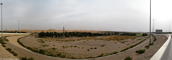 Abu Dhabi desert towards Al Ain panorama