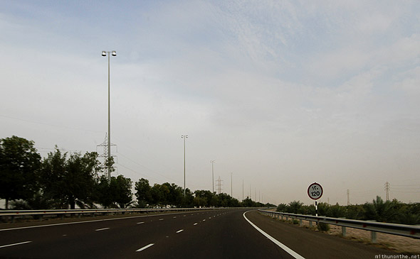Abu Dhabi to Al Ain highway