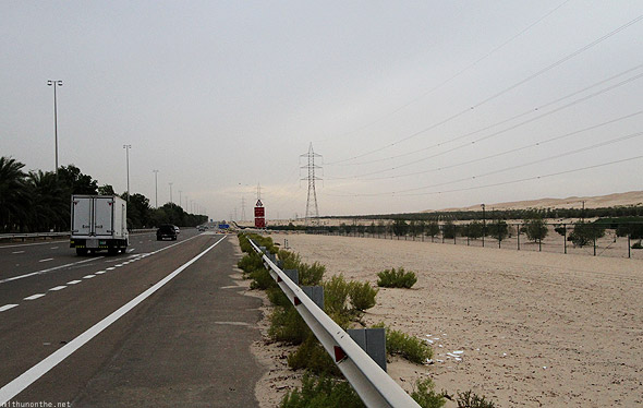 Al Ain to Abu Dhabi highway