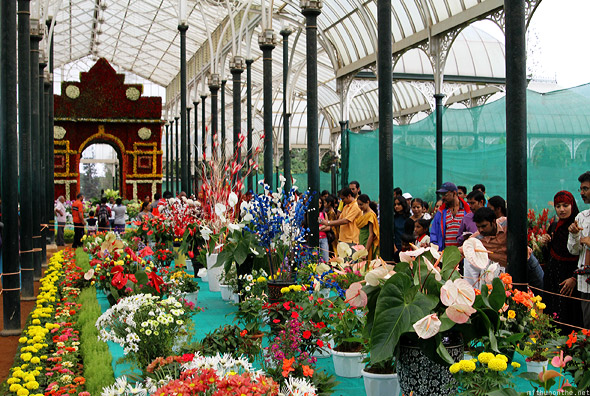 Bangalore Lal Bagh glasshouse center row