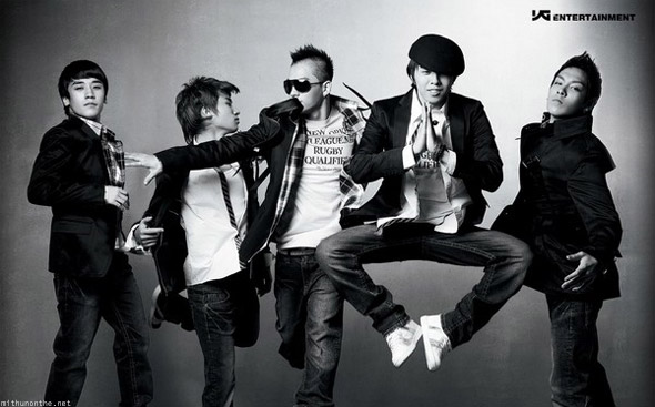 Bigbang korean boy band black & white