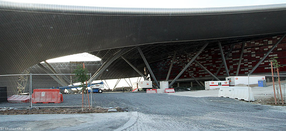 Ferrari World Abu Dhabi construction progress
