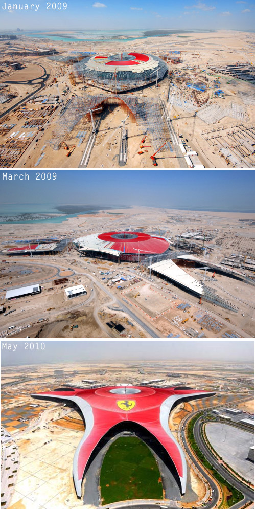 Ferrari World Abu Dhabi construction timeline
