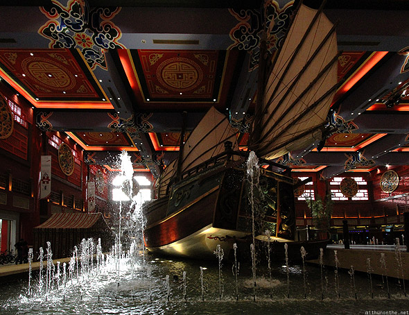 Ibn Battuta mall Chinese boat fountain