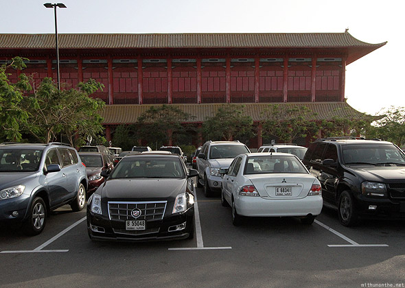 Ibn Battuta mall parking lot Dubai