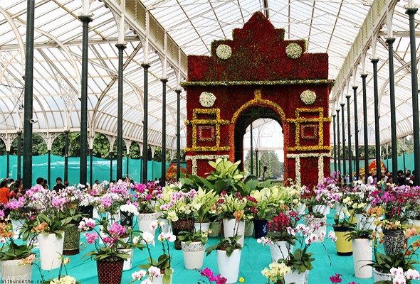 Lal Bagh flower show India Gate panorama