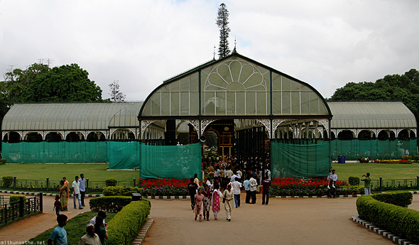 Lal Bagh glasshouse from steps