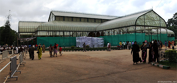 Lal Bagh glasshouse panorama