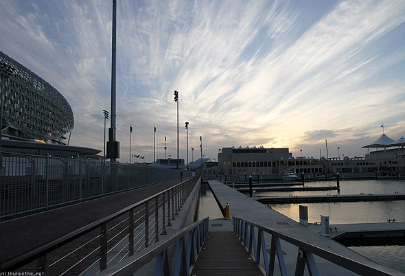 Yas Marina circuit sunset sky