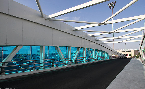 Yas Marina circuit track bridge view