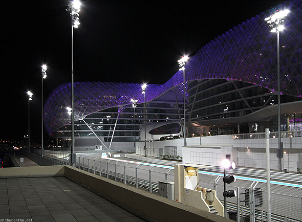 Yas Marina circuit track bridge