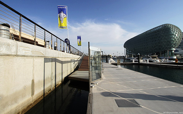 Yas Marina dock Michelin flag