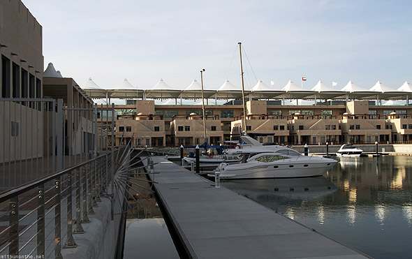 Yas Marina hotel dock path
