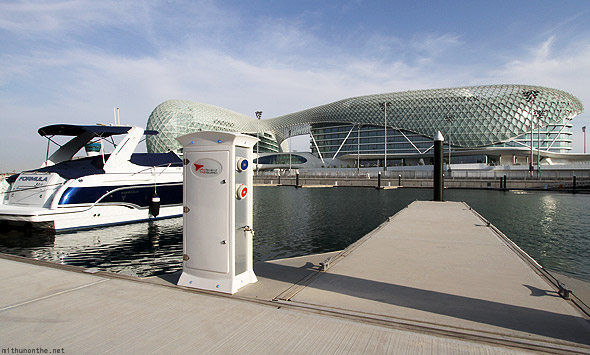 Yas Marina hotel docking bay