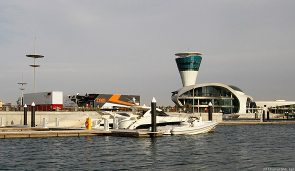 Yas Marina racing teams yacht Sun tower