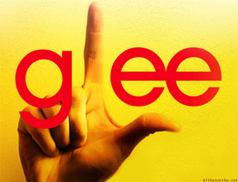 Glee logo tv show yellow hand