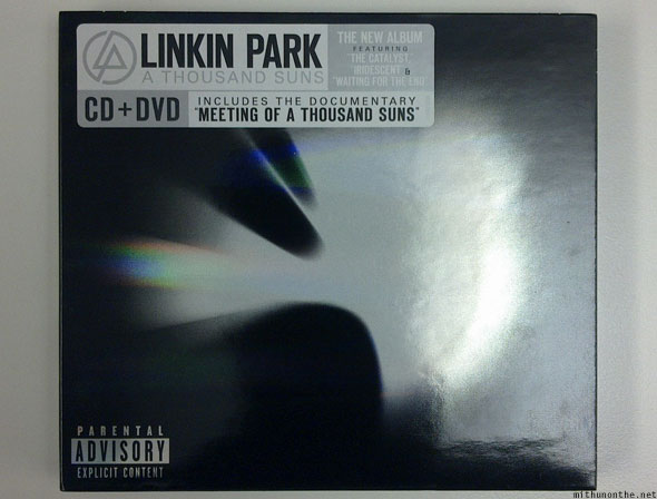 Linkin Park A Thousand Suns CD+DVD edition package