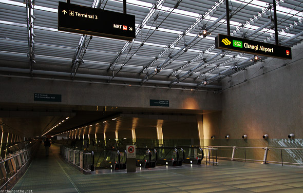 Changi Airport terminal to MRT station