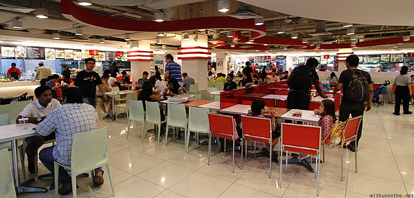 Funan IT mall food court counters Singapore