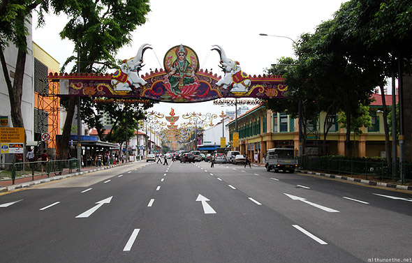 Little India Happy Diwali entrance decorations Singapore