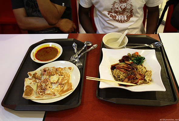 Lunch at Funan Mall Singapore food court