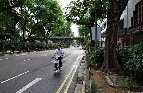 Singapore Beach Road cyclist