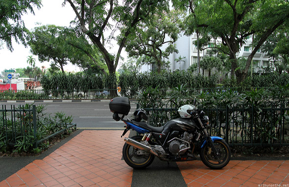 Singapore beach road pavement motorbike