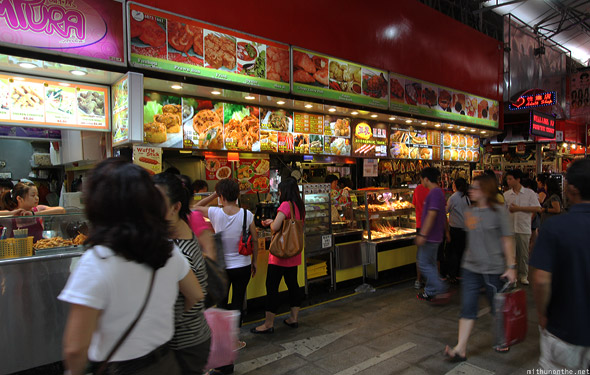 Singapore Bugis street shopping food
