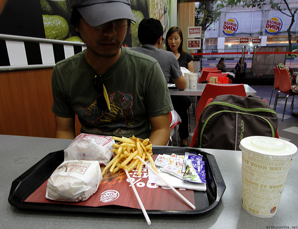 Singapore Burger King Bugis