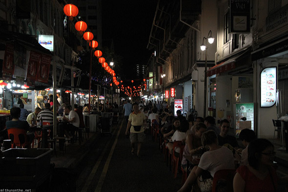 Singapore Chinatown food street restaurants