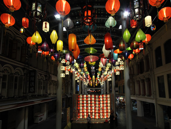 Singapore Chinatown lanterns display