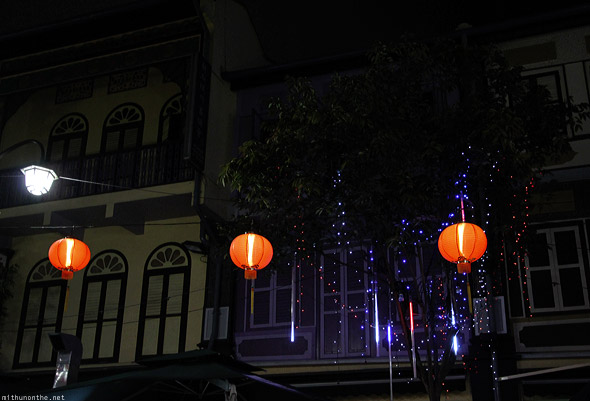 Singapore Chinatown tree lights