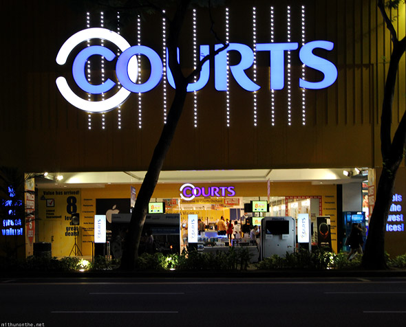 Singapore Courts electronics store Orchard road