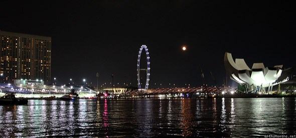 Singapore Flyer marina F1 night