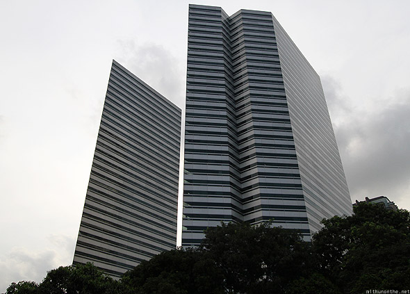 Singapore glass office building