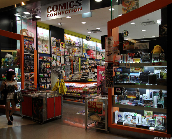 Singapore iluma mall Comics Connection store