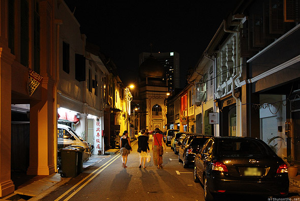 Singapore Kampong Glam at night Sultan Mosque