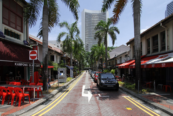 Singapore Kampong Glam cafe brick street